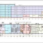 план 1-го этажа и разрез здания